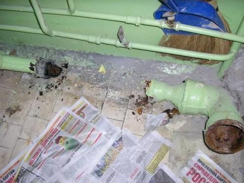 Как разобрать старую чугунную канализацию