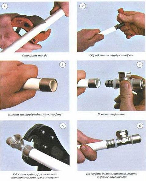 монтаж системы отопления металлопластиковыми трубами
