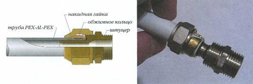 течет стык металлопластиковых труб