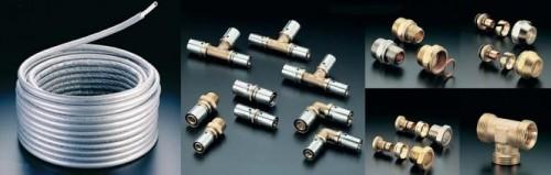монтаж фитингов для металлопластиковых труб