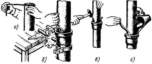 Герметизация стыка чугунных труб