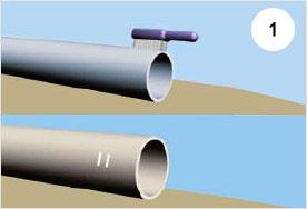Соединение полиэтиленовых труб с чугунными напорными