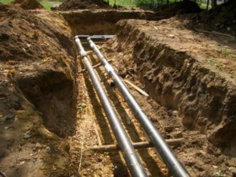 прокладка труб отопления в земле