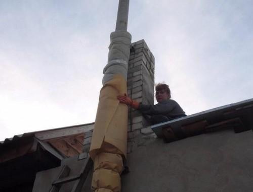утепление трубы дымохода своими руками