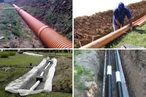 наклон трубы канализации