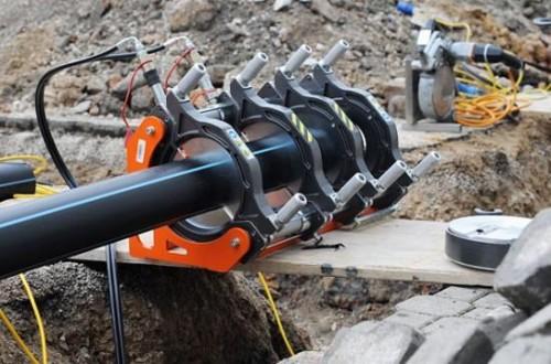 Стыковая сварка труб наружного водопровода