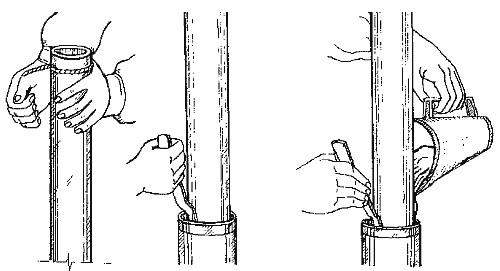 трещина в чугунной канализационной трубе