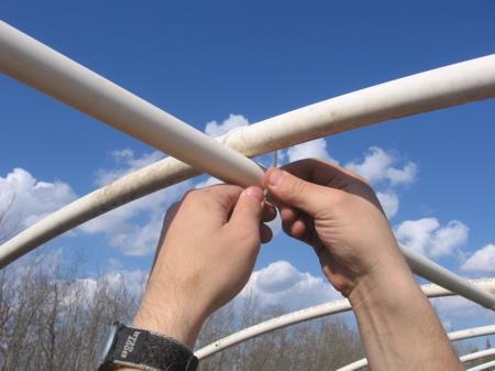 каркас теплицы из полипропиленовых труб