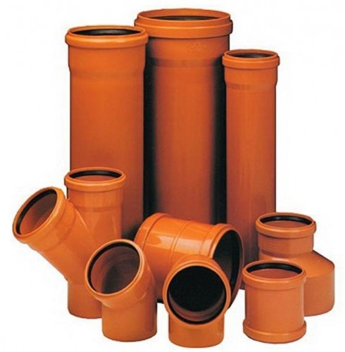 канализационные пластиковые фитинги и трубы