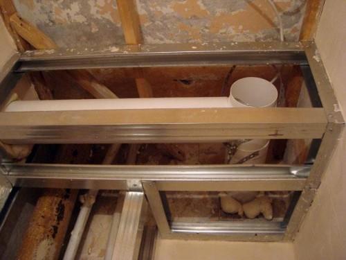 короб для канализационной трубы