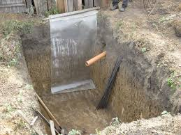 глубина канализационной трубы
