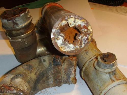 очистка водопроводных труб