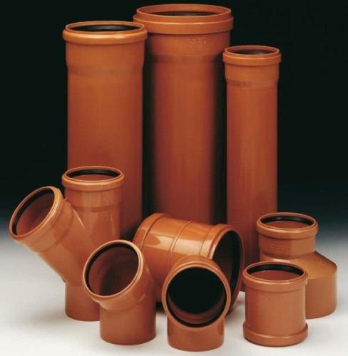 оранжевые канализационные трубы