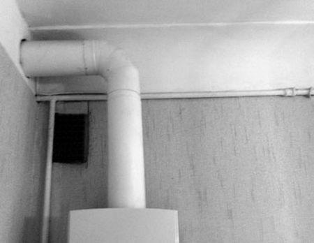 установка газовой вытяжки