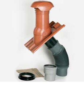 Узел прохода вентиляционной трубы промышленного изготовления