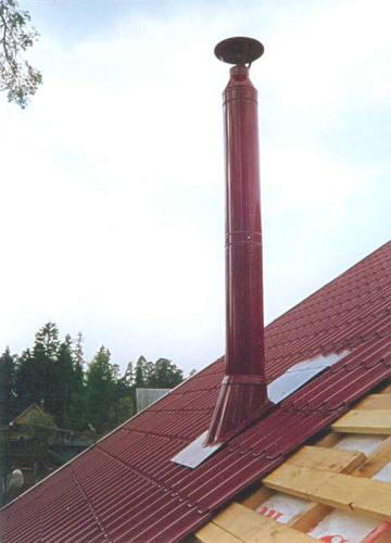 вентиляционная труба на крыше
