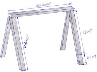 Схема строительство опор