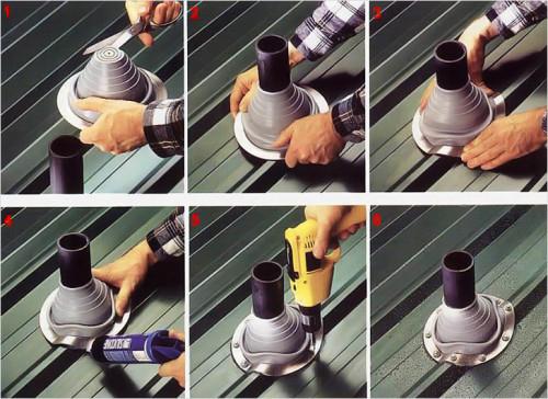 Схема установки фартука