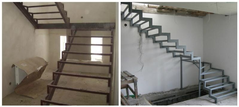 Лестница из труб своими руками