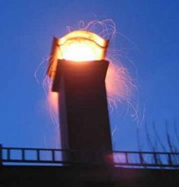 Из-за малой высоты дымового канала может произойти пожар
