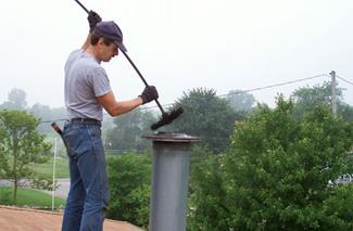 Очистка дымовой трубы от сажи иных веществ