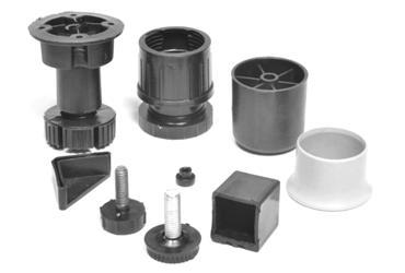 Пластиковые устройства, применяемые при изготовлении мебели