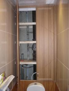 Декоративный короб с полочками для хранения ванных принадлежностей