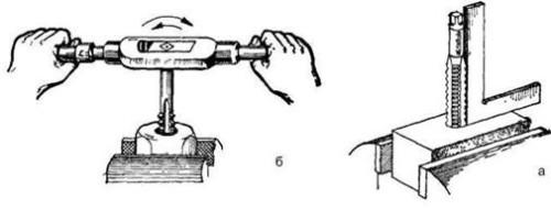 Процедура нарезки резьбы внутри трубы