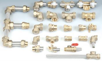 Различные фитинги для сборки гофротруб в единую конструкцию