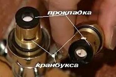 Замена испорченного элемента вентильного крана