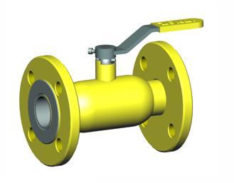 Вентиль для газа, фиксируемый фланцами