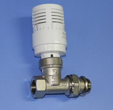 Терморегулирующий вентиль для прямого участка трубопровода