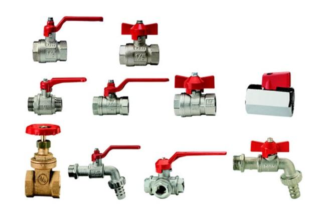 Различные водопроводные вентили