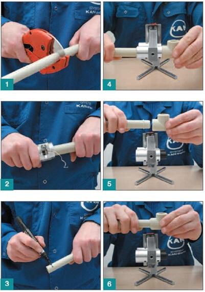 Схема установки фитингов на пластиковые трубы