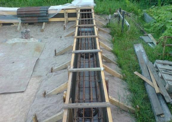 Готовая к заливке бетоном правильно армированная опалубка для ростверка ТИСЭ