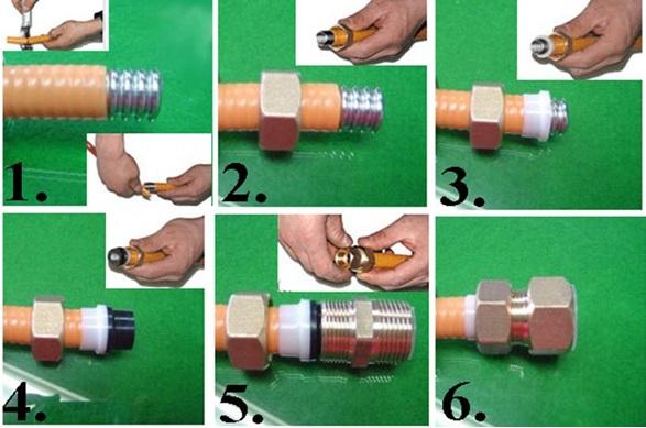 Монтаж труб при помощи резьбовых фитингов