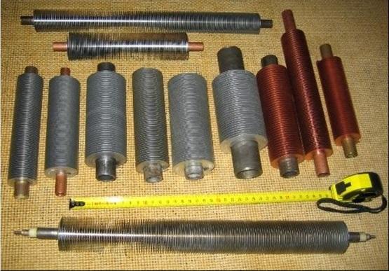 Оребренные трубы, изготовленные из разных материалов