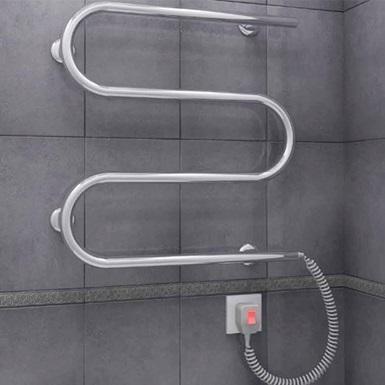 Подключение полотенцесушителя открытым способом