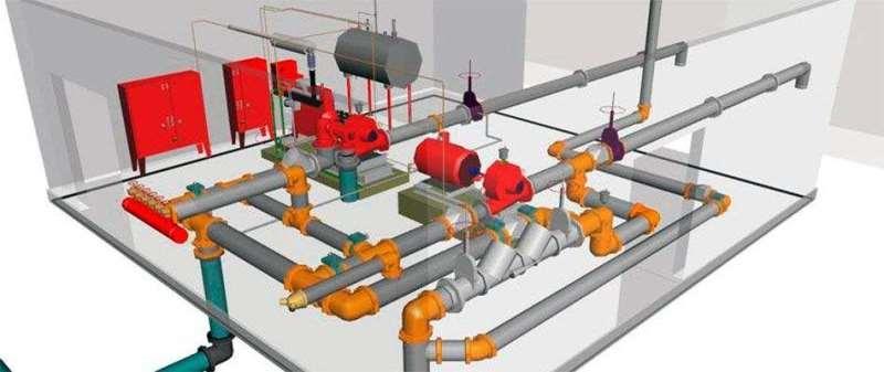 Трубопровод, входящий в состав системы пожаротушения