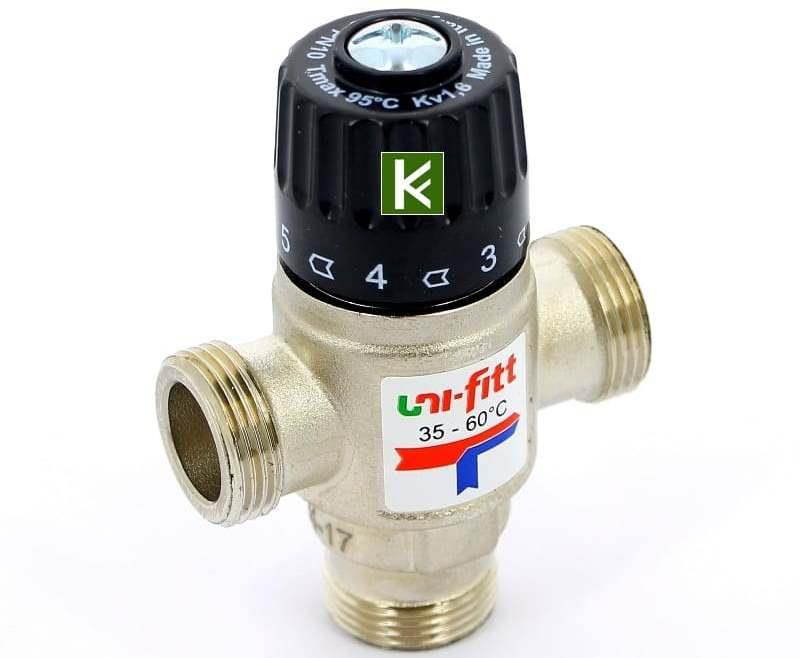 Трехходовой клапан с терморегулятором
