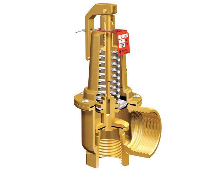 Предохранительный клапан с рабочим механизмом в виде пружины