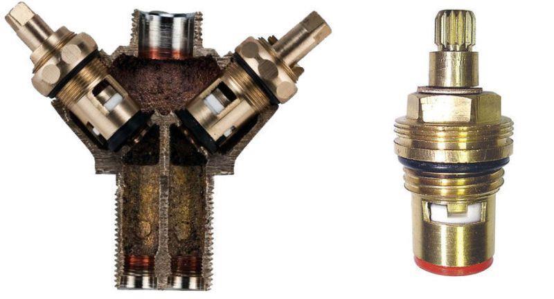 Запорный элемент вентильного смесителя