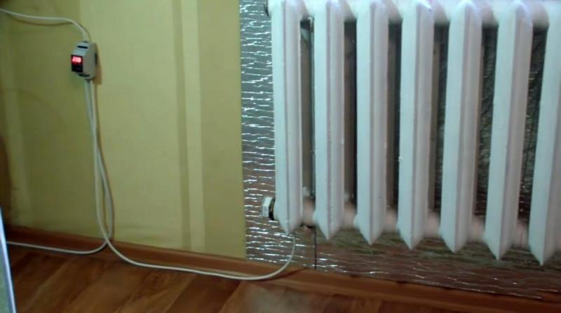 Установка в радиатор