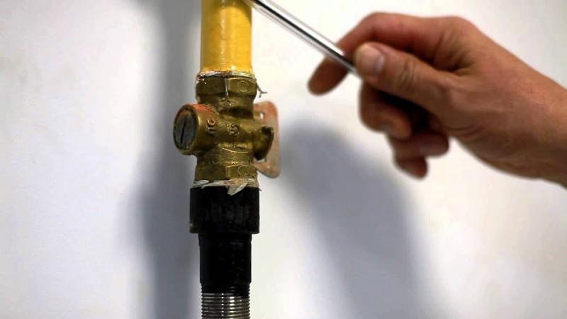 Индивидуальный кран для перекрытия газа