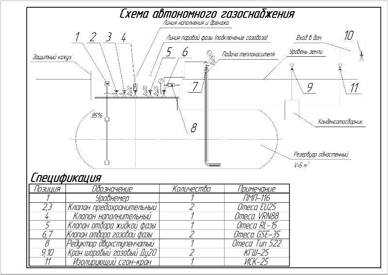 Схема внешней части системы