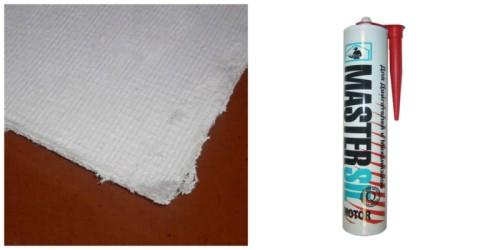 Материалы для защиты от высоких температур: асбестовый лист и жаропрочный герметик
