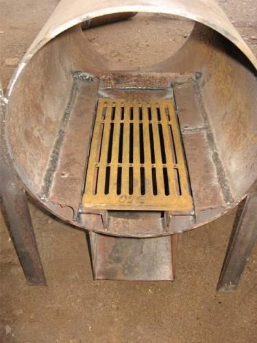 Пример установки колосника в печь