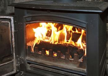 Топливом для печи являются дрова