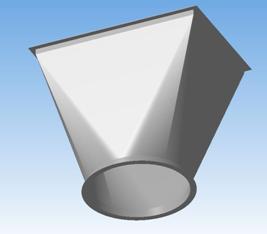 Переходник с круглой формы на прямоугольную