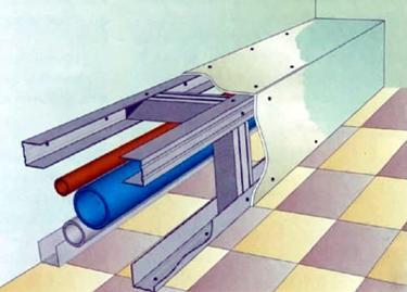 Конструкция простейшего короба для сокрытия труб